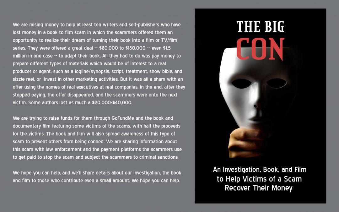 Victims of Book to Film Con start GoFundMe Campaign, Book, Film to Compensate Losses